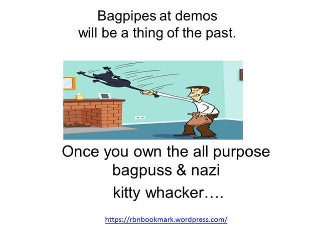 Bagpipes at demos