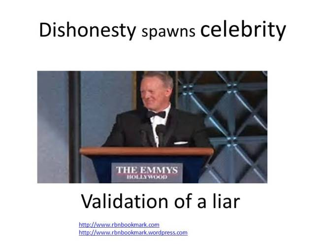Dishonesty spawns celebrity